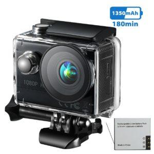 La imagen muestra una cámara deportiva