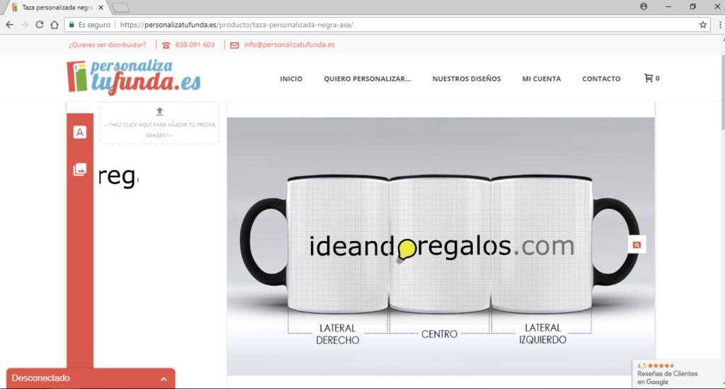 diseño taza con logo ideandoregalos