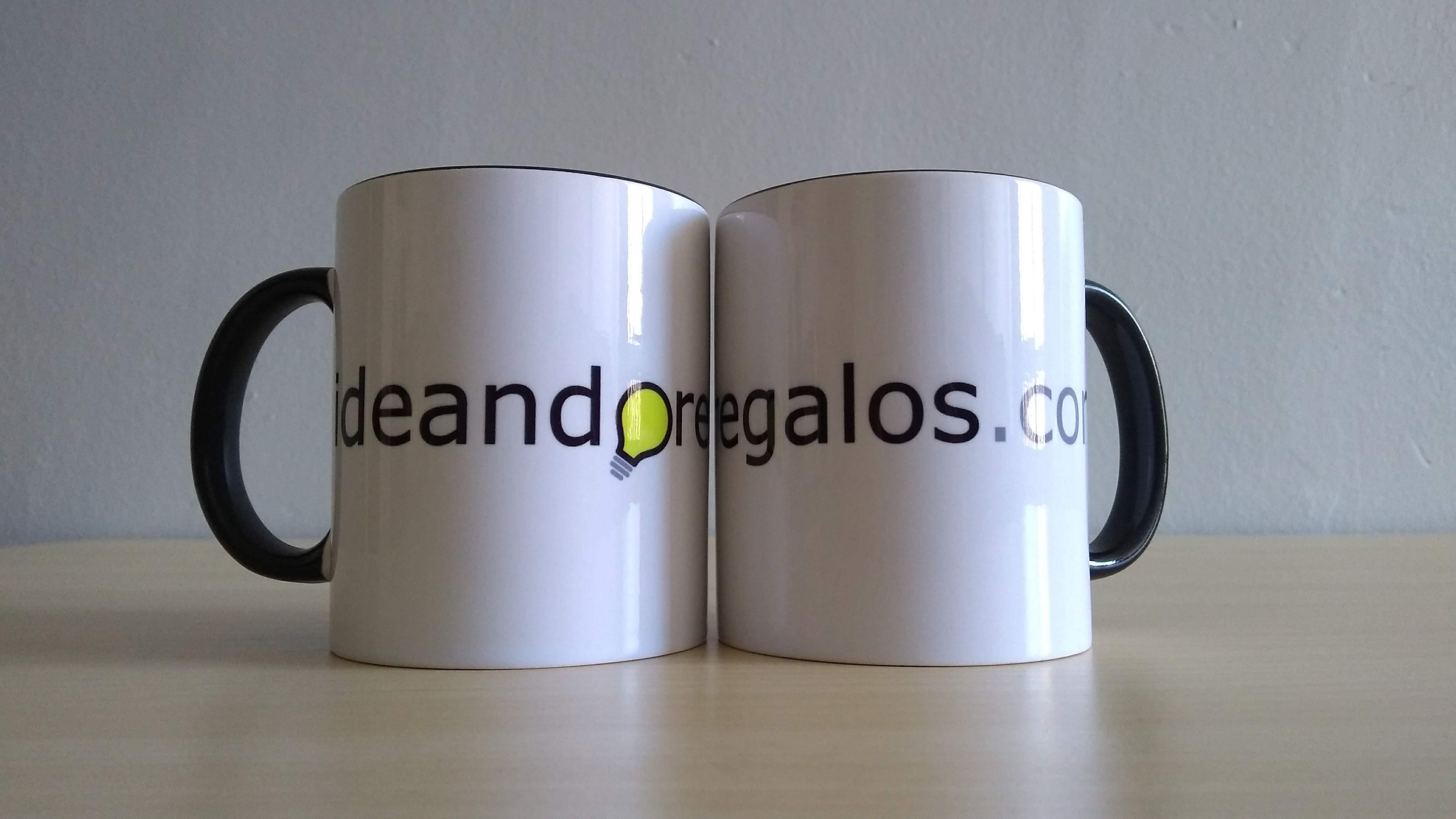 taza con logo ideandoregalos.com