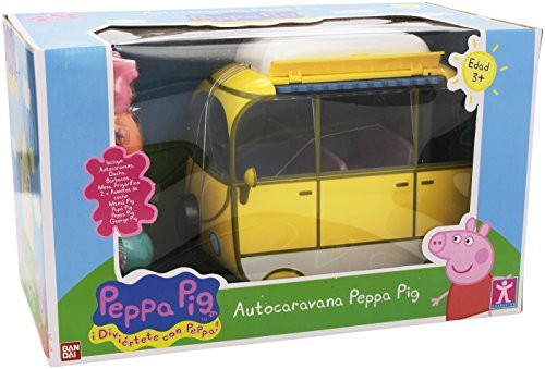 Se muestra una imagen de Peppa Pig caravana